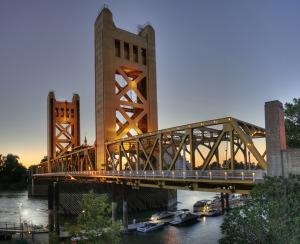 Tower Bridge in Sacramento. cc licensed: http://en.wikipedia.org/wiki/History_of_Sacramento,_California